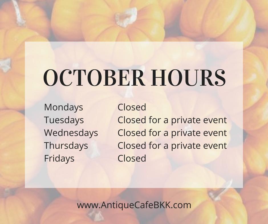 October hours